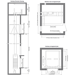 machine room arrangement plan